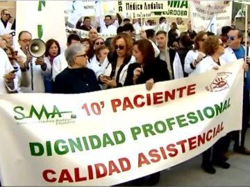 Huelga de médicos en Andalucía
