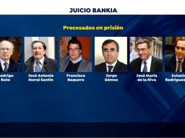 Procesados en el juicio de Bankia que ya están en prisión