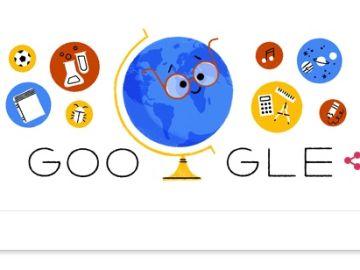 Doodle de Google por el Día Internacional del Profesor