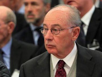 El expresidente de Bankia Rodrigo Rato durante la primera sesión del juicio por la salida a Bolsa de la entidad