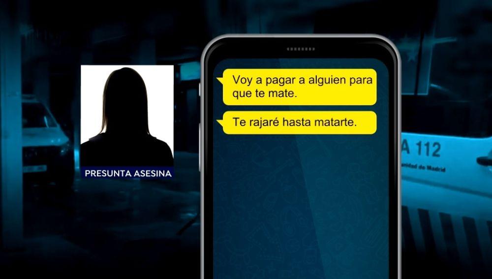 Mensajes de WhatsApp de la presunta asesina de la joven de 17 años a su víctima