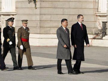 Recibimiento al presidente chino