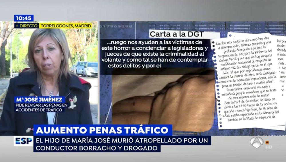 """La madre de un menor atropellado recoge firmas para aumentar las penas de criminales al volante: """"El asesino de mi hijo era reincidente, iba borracho y drogado"""""""