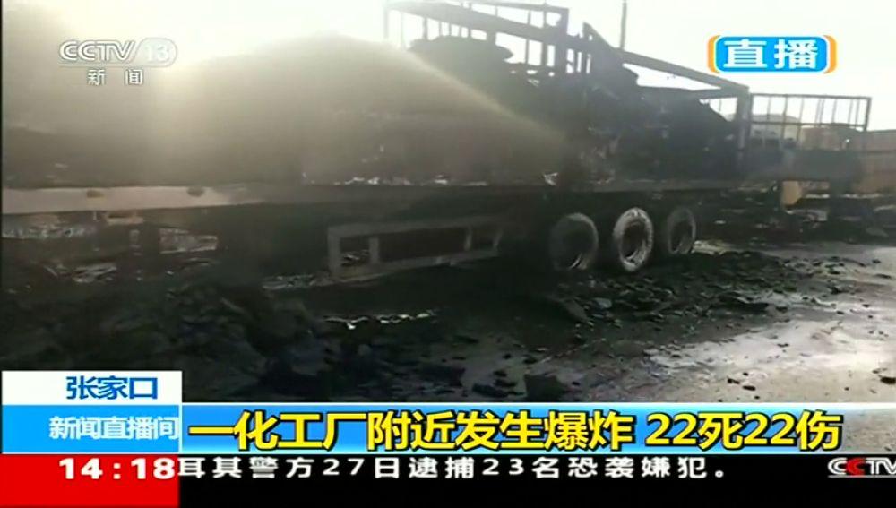 Una explosión cerca de una planta química en China deja 22 muertos