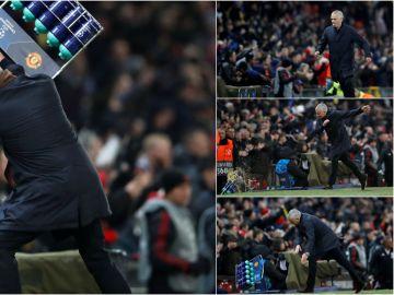 José Mourinho y su reacción tras el gol de Fellaini