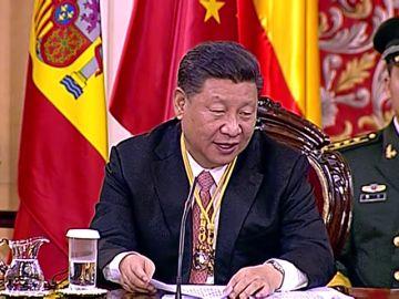 El presidente chino recibe las llaves de la ciudad de Madrid