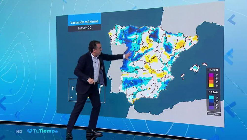 Un frente atlántico entrará por Galicia extendiéndose al resto de la Península