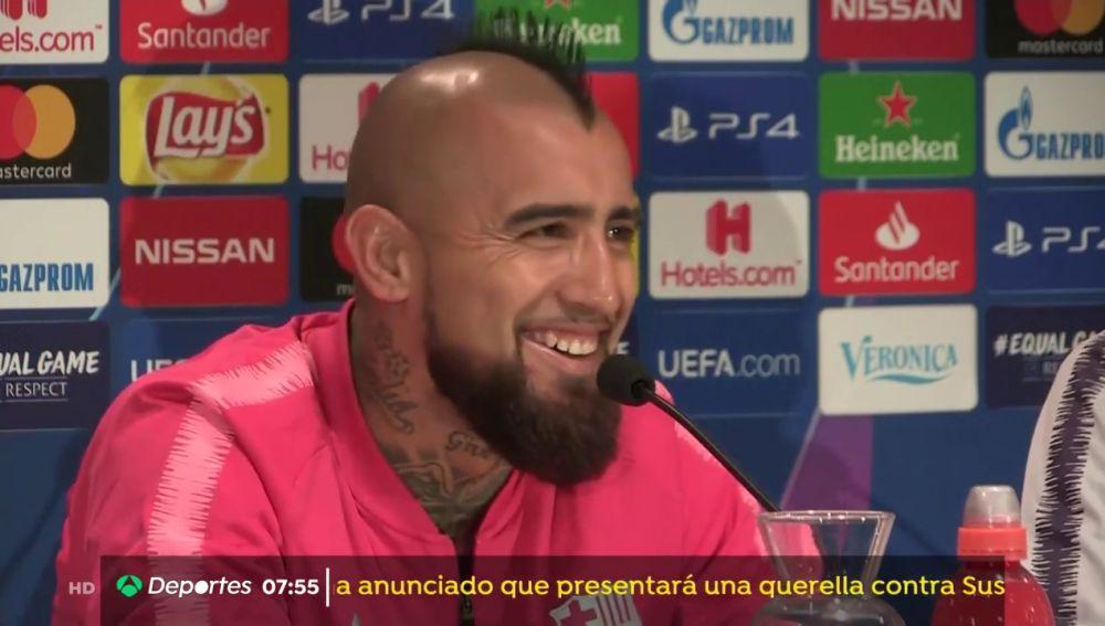 """Arturo Vidal: """"El tema de los emoticonos está cerrado, hay que hablar de que el equipo está unido"""""""