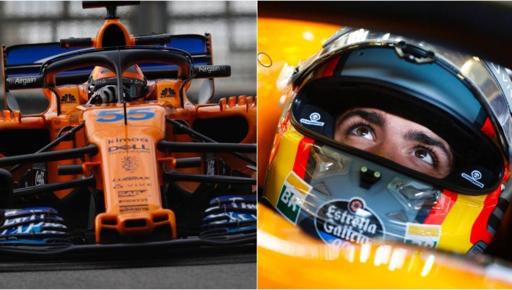 Carlos Sainz, en su primera día con McLaren