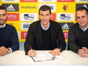 Javi Gracia firma su nuevo contrato con el Watford