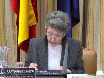 Comparecencia en el Congreso de Rosa María Mateo