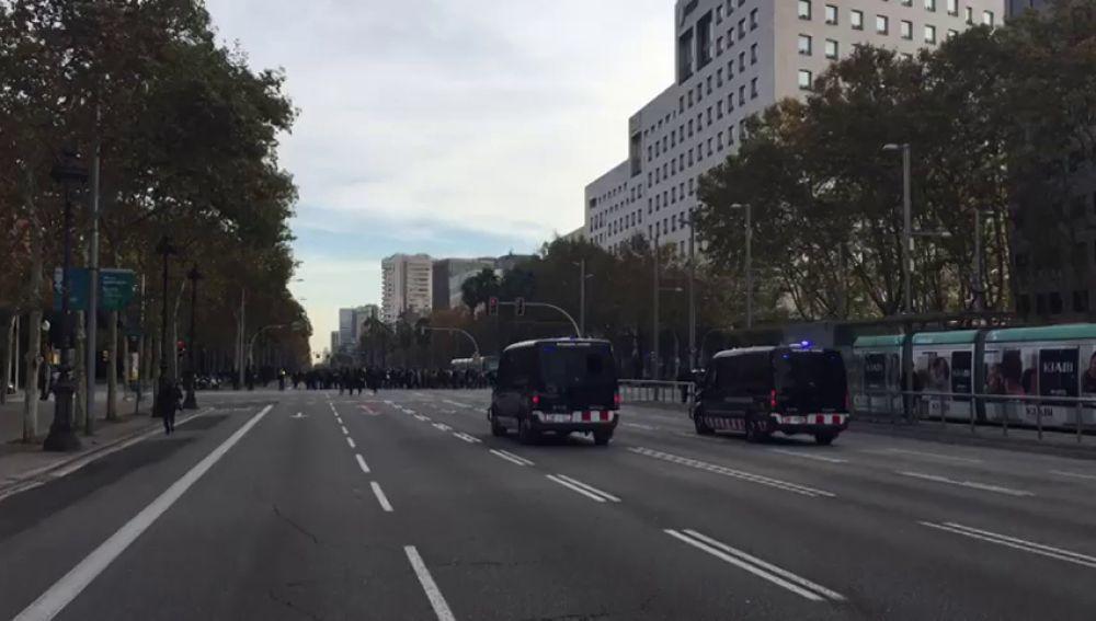 La Diagonal, cortada por la protesta de los estudiantes