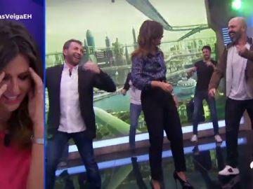 La muestra de que Nuria Roca todavía no ha aprendido el baile de 'El Hormiguero 3.0'