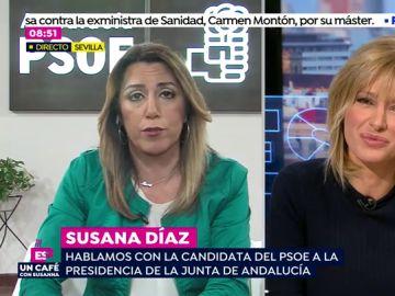 Susana Díaz, en una entrevista en Espejo Público