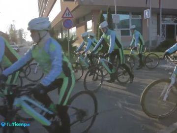 Mercedes Martín participa en la marcha ciclista contra el cambio climático