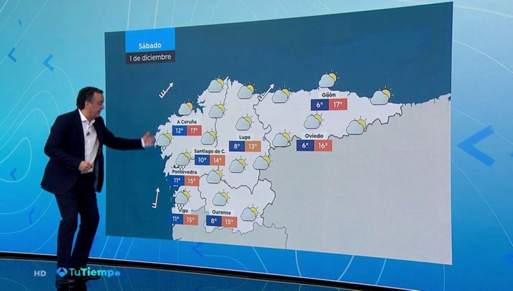 Temperaturas diurnas en aumento en el Cantábrico, Pirineos y centro peninsular