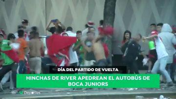 La cronología del esperpento de la final de la Copa Libertadores: Lluvia  torrencial, euforia desmedida, un autobús apedreado, una madre detenida