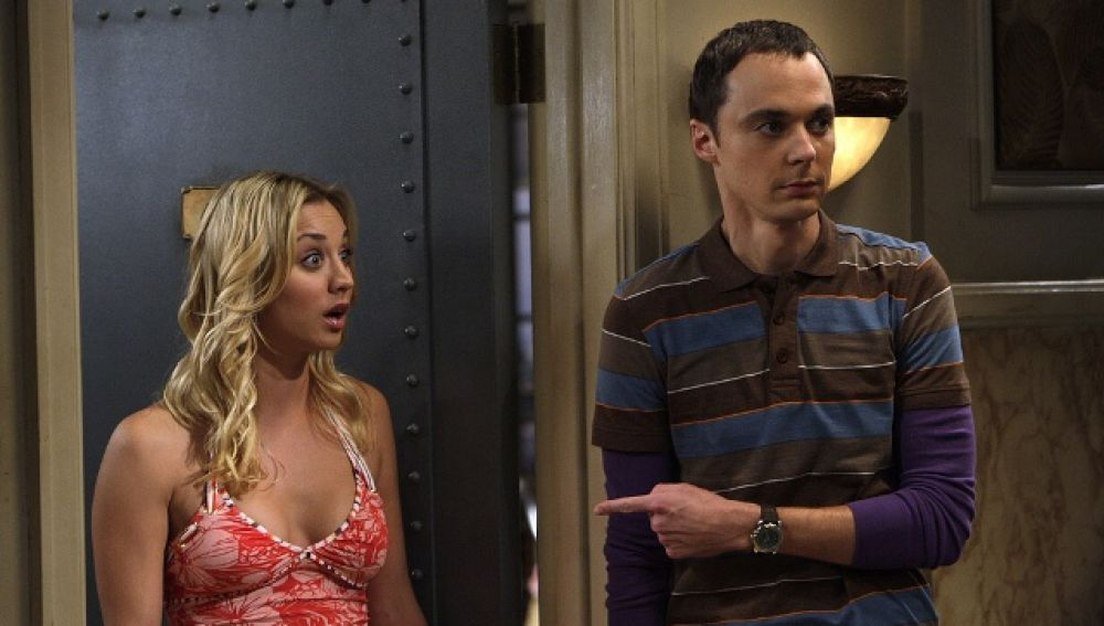 Penny y Sheldon Cooper en 'The Big Bang Theory'