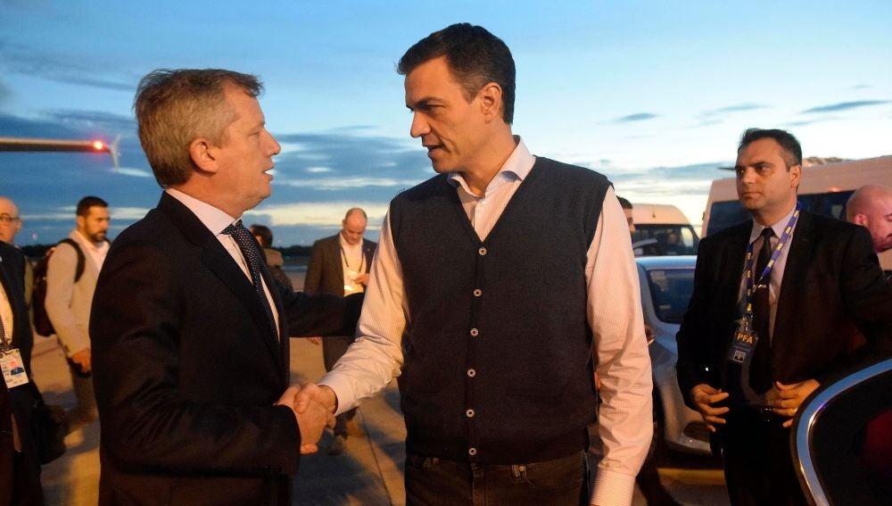 El presidente del Gobierno español, Pedro Sánchez, a su llegada a Argentina