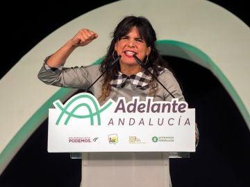 La candidata de Adelante Andalucía a la Presidencia de la Junta, Teresa Rodríguez