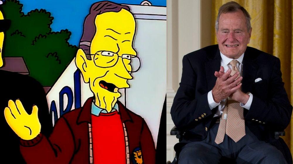 George H.W. Bush en 'Los Simpson'