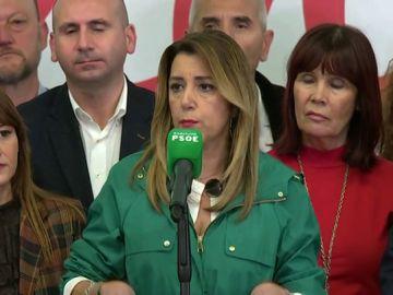 """Susana Díaz: """"Pido a todas las fueras constitucionalistas que paremos a la extrema derecha"""""""