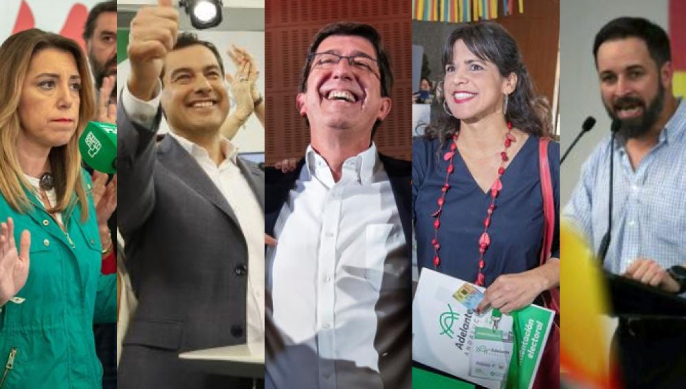 Candidatos a la presidencia de la Junta de Andalucía