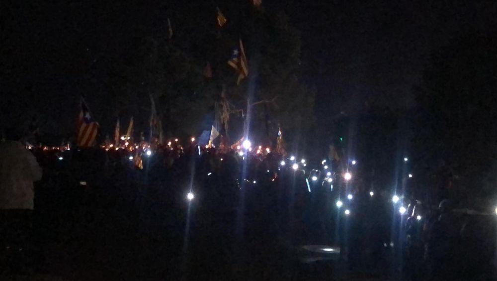 Concentración en Lledoners por los presos en huelga de hanbre