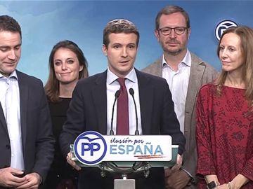 """Pablo Casado: """"Ésta es la primera piedra que supone para Pedro Sánchez un fracaso histórico"""""""