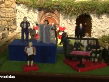 El belén en movimiento más grande de Galicia se ha abierto en Valga
