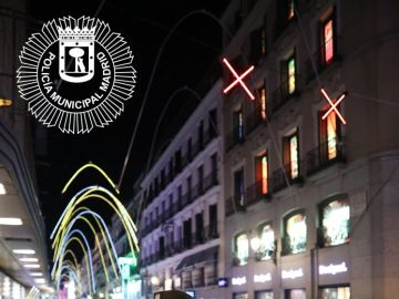 Señales luminosas en Madrid