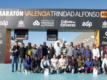 Presentación de los principales corredores de la trigésimo octava edición del Maratón Valencia Trinidad Alfonso
