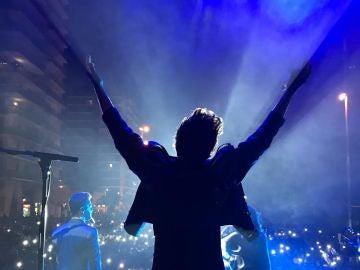Blas Cantó durante su concierto en #HolaNadal de Europa FM en Badalona