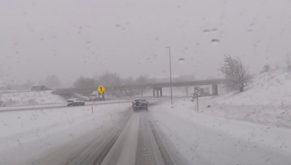 Accidente en una carretera de Míchigan