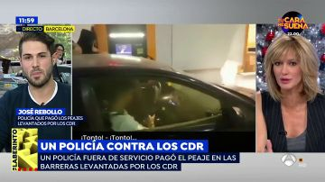 """Los CDR insultan a un polícia nacional por pagar un peaje: """"Los policías nacionales y los guardias civiles en Cataluña tenemos un trato diferencial"""""""