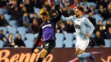 Momento del partido entre el Celta y el Leganés
