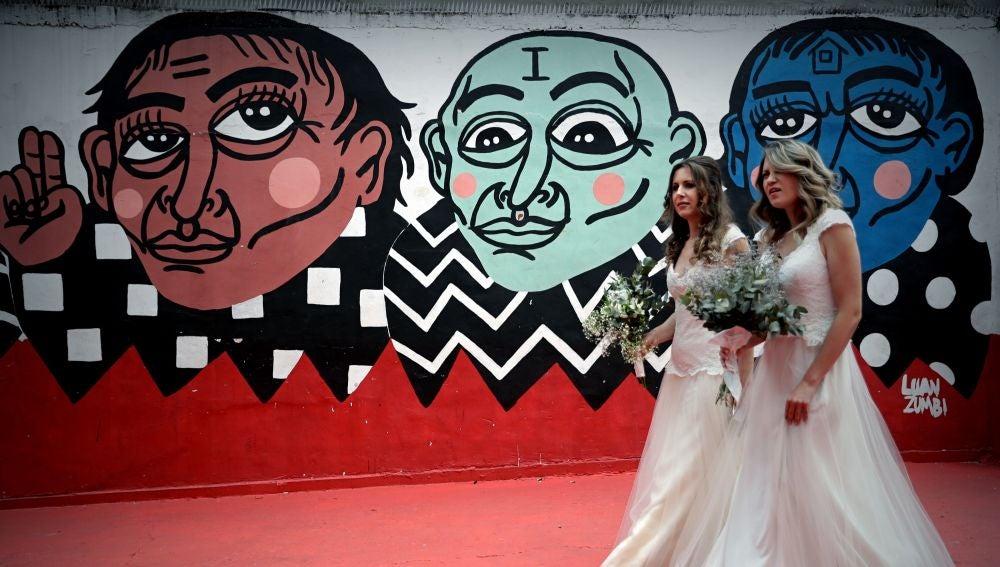 Parejas homosexuales se casan en Sao Paulo