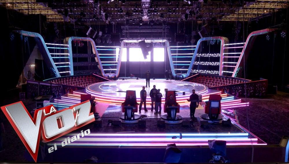 VÍDEO: Así se construyó el plató de 'La Voz' en Antena 3