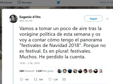 Hilo de twitter de Eugenio d'Ors