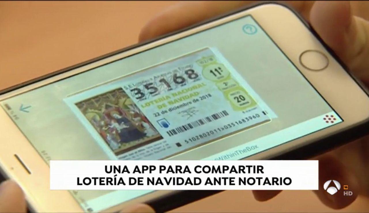 Desarrollan una aplicación de móvil para compartir lotería de Navidad ante notario