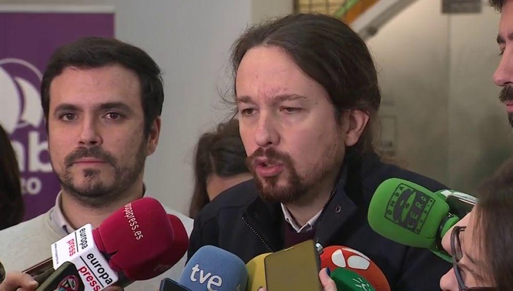 Pablo Iglesias defiende las manifestaciones antes del 21D