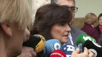 """Carmen Calvo, sobre la reunión entre Sánchez y Torra: """"Estamos trabajando en eso"""""""