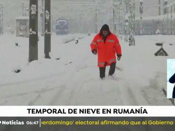 El temporal colapsa el oeste Rumanía