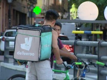 Trabajadores de Deliveroo