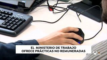 El ministerio de Trabajo ofrece prácticas NO remuneradas a estudiantes de estadística
