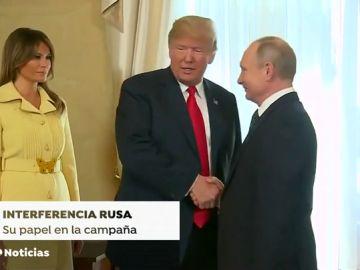 Rusia intentó influir en la campaña electoral que dio el triunfo a Trump con propaganda en redes sociales.
