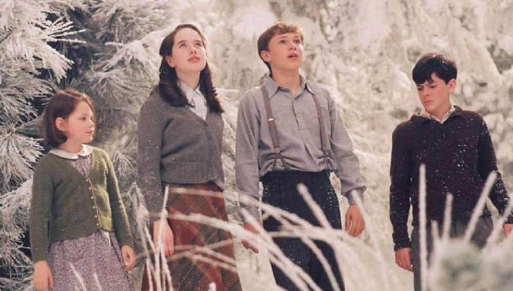 Lucy, Susan, Peter y Edmund en las 'Crónicas de Narnia'