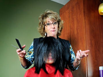 Destrozo en la peluquería