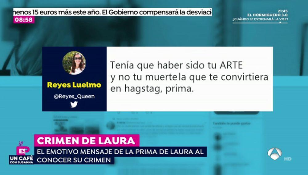 El emotivo mensaje de la prima de Laura Luelmo, la profesora zamorana asesinada en Huelva