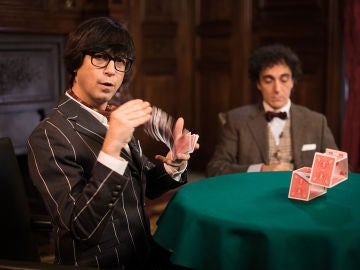 El mágico acertijo visual de Luis Piedrahita durante la visita de Saúl Ñíguez a 'El Hormiguero 3.0'